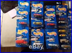 1990's Hot Wheels Blue Card Lot Of 46 In Package Assorted Numbers From 100-199