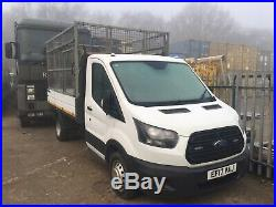 2017 17 Ford Transit twin wheel cage tipper Euro 6 130hp 12k owned from new