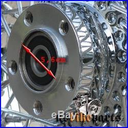 21 x 3.5 80 Spoke Single Disc Wheel with Billet Hub 3/4 For HD & Custom from