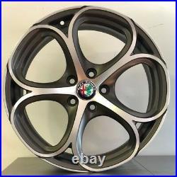 4 Alloy Wheels Alfa Giulia Giulietta Stelvio Brera From 18 New, Double Measure