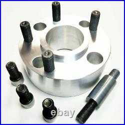 4 WHEEL spacers adapters 40 mm From car 4x108, 57.1 to wheels 5x112, 66.5 +STUDS