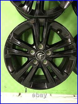 4 X Black Alloy Wheels, From Citroen Berlingo 8 months old from brand new van