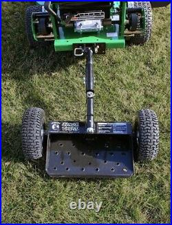 Black Jungle Wheels Two Wheel Sulky for Walkbehind Mowers from Jungle Jim's