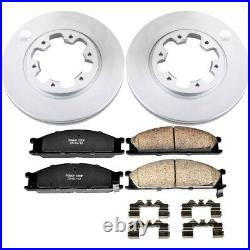 CRK4837 Powerstop Brake Disc and Pad Kits 2-Wheel Set Front New for Hardbody