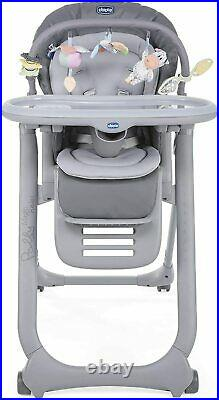 Chicco Polly Magic Relax Highchair 4Wheel (Graphite) Suitable From Birth
