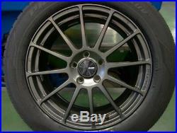 ENKEI Wheels PF03 18x7.5J +48 5x114.3 Matte Dark Gunmetal set of 4 from JAPAN