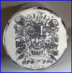 Ed Big Daddy Roth Rat Fink Ceramic Pint Glass From 1992 Denver World Of Wheels