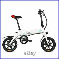 FIIDO D1 10.4AH Folding Electric Bike Bicycle 25km/h 14 Wheel White From EU