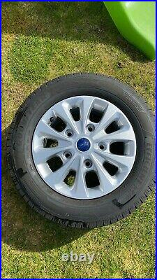 Ford Transit Custom 4 x 16 inch alloy wheels and tyres 500 miles only from new