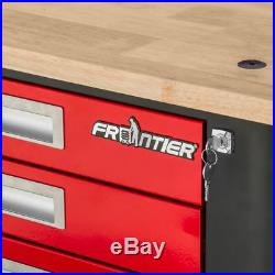 Frontier workshop trolley tool holder bench from work wood with wheels ope5105