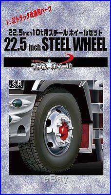 Fujimi TW72 1/32 Steel Wheel & Tire Set 22.5 inch f/ Truck from Japan