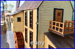 G-SCALE WATER WHEEL GRIST MILL BUILDING KIT Puzzle from Doc's Trains