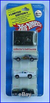 HOT WHEELS HOT BIRD 3 PACK With BELT BUCKLE NEW ON CARD FROM LARRY WOOD COLLECTION