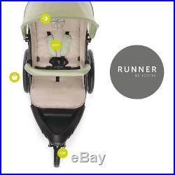 Hauck Runner 3-Wheel All-Terrain Stroller (Oil) Suitable From Birth RRP £200