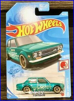 Hot Wheels 71 Datsun 510 Super Treasure Hunt STH from 2021 H mainline case
