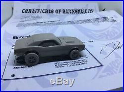 Hot Wheels Super Rare'67 Camaro Prototype Resin From Mattel Employee With COA