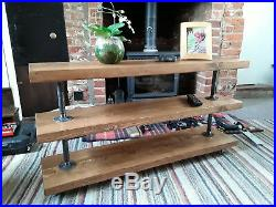 Industrial Shelving Unit Made from Solid Wood & Industrial Pipe & Pipe Fittings