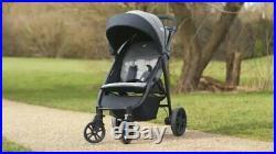 Joie Litetrax Chromium 4 Wheel Pushchair Stroller From Birth Baby Toddler Buggy