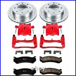 KC1203 Powerstop 2-Wheel Set Brake Disc and Caliper Kits Rear Coupe for Eclipse
