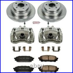 KCOE447 Powerstop Brake Disc and Caliper Kits 2-Wheel Set Rear for Impreza 9-2X