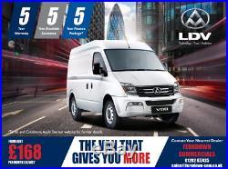 New LDV V80 Short Wheel Base From £ 168 Monthly + Vat Ferndown 01202 877345