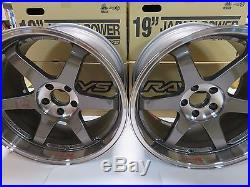 RAYS VOLK TE37SL Forged Wheels 19x9.5J&10.5J set of 4 for NISSAN from JAPAN