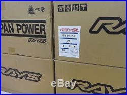 RAYS VOLK TE37SL Forged Wheels Black 9.5J&10.5J-19 set of 4 from JAPAN