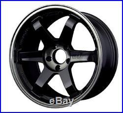 RAYS VOLKRACING TE37SL Forged Wheels 9.5J-18 +35 Pressed Double Black from JAPAN