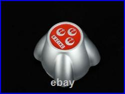 RS WATANABE Cannonball Wheel Center Cap Silver Set of 4 70mm NEW from Japan F/S
