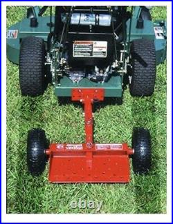 Red Jungle Wheels Two Wheel Sulky for Walkbehind Mowers from Jungle Jim's