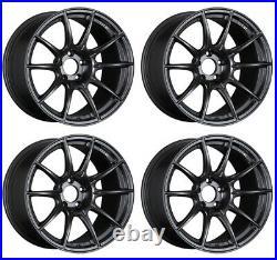 SSR GT X01 17x9.0 5x114.3 +15 Flat Black from Japan 4 rims JDM Wheels