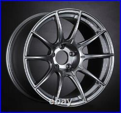 SSR GT X01 18x10.5 5x114.3 +22 +15 Dark Silver from Japan 4 rims JDM Wheels