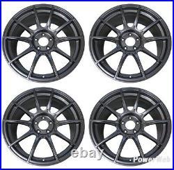 SSR GT X01 18x8.0 5x114.3 +45 Dark Silver from Japan 4 rims JDM Wheels