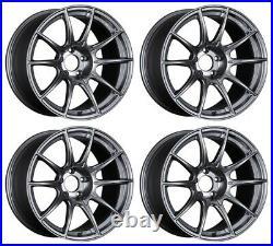 SSR GT X01 19x10.5 5x114.3 +22 Dark Silver from Japan 4 rims JDM Wheels