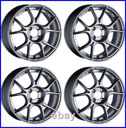 SSR GT X02 17x7.0 4x100 +48 +42 Dark Silver from Japan 4 rims JDM Wheels