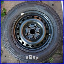 Set of 4 wheels with new tyres from VW transporter T4