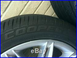 Set of 4 x 17 inch Alloy Wheels taken from BMW with BRAND NEW Cooper tyres