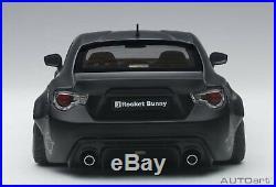 TOYOTA GT86 AUTOart 118 Rocket Bunny 86 Matt Black / Black Wheel from JAPAN