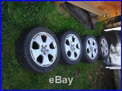 VW T4 alloy wheels, will need new tyres. Quick sale. Collect from Milton Keynes