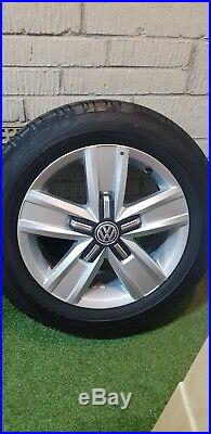 VW T6 Transporter 4 Davenport 17 Alloy Wheels Tyres Done 20 Miles From New