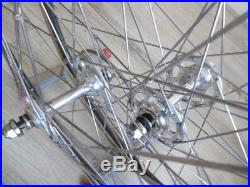 Vintage like new Campagnolo record Pista track wheels wheelset from Rene Pijnen