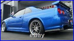 WORK EMOTION D9R 19x10.5J +15 5x114.3 Silver set of 4 wheels from JAPAN