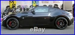 WORK EMOTION D9R 19x9.5/10.5J +30/+30 5x114.3 Black set of 4 wheels from JAPAN