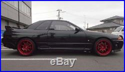 WORK EMOTION D9R 9.5J-18 +23 5x114.3 CANDY RED set of 4 wheels from JAPAN