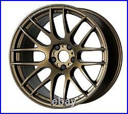 WORK EMOTION M8R 18x7.5J +47 5x114.3 ashed titan wheels set of 4 from JAPAN