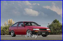WORK Equip01 Wheels 15x8.0J +7 set of 4 for AE86 Rolled Fenders from JAPAN