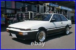 WORK Equip03 Wheels Gold 14x6.5J +13 set of 4 for TOYOTA AE86 etc. From JAPAN