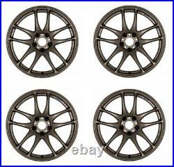Work Emotion CR Kiwami 17x7.0 +47 5x100 AHG from Japan 4 rims wheels JDM