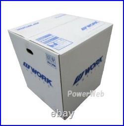 Work Emotion D9R 18x10.5 +23 +15 5x114.3 WHT from Japan 4 rims wheels JDM