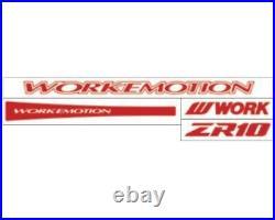 Work Emotion ZR10 18x10.5 +22, +12 5x114.3 ARK from Japan 4 rims wheels JDM